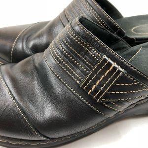 98501f07112 Clarks Shoes - Clarks Leather Loafer Sandals Black Brown Size 12